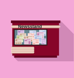 Newsstand icon flat style vector