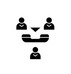 online meeting black concept icon online vector image