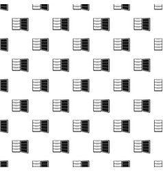 Open refrigerator pattern seamless vector