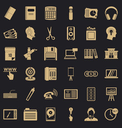 Paper version icons set simple style vector