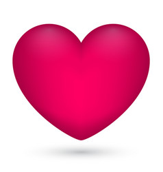 pink heart on white vector image