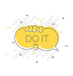 Quick tips badge with do it speech bubble trendy vector