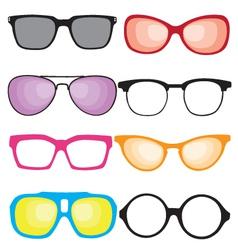 retro sunglasses vector image