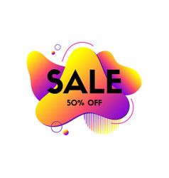sale liquid abstract banner dynamic fluid vector image