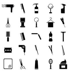 salon icon set vector image