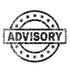 Scratched textured advisory stamp seal vector