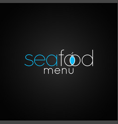 Seafood fish logo design background vector