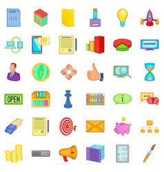 sell the thing icons set cartoon style vector image