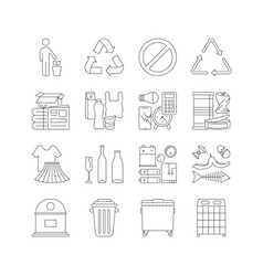 Set garbage cans with sorted garbage vector