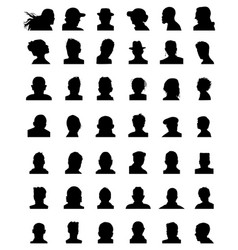 silhouettes avatars vector image