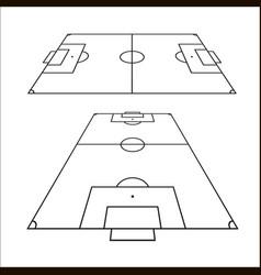 sketch of soccer fields set football field design vector image