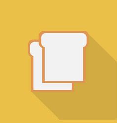 slice of bread icon set of great flat icons vector image