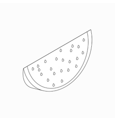 Slice of watermelon icon isometric 3d style vector image