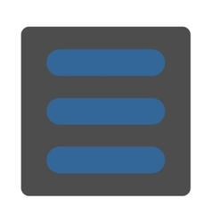 Stack flat cobalt and gray colors rounded button vector