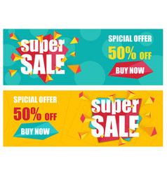super sale banners template vector image
