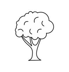 Tree icon in outline style vector image