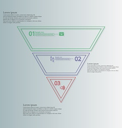 Triangle shape infographic template consists of vector image
