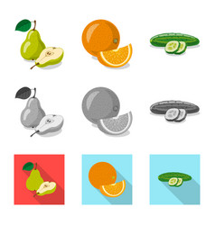 Vegetable and fruit sign vector