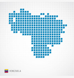 venezuela map and flag icon vector image