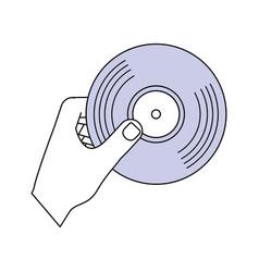 vinyl music symbol vector image