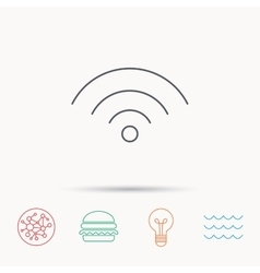 Wifi icon Wireless wi-fi network sign vector image