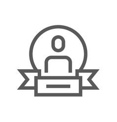 winner flat line icon vector image