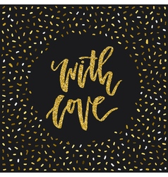 With Love Card vector image