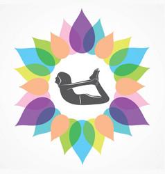 Woman doing yogasan vector