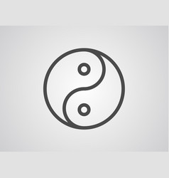 ying yang icon sign symbol vector image