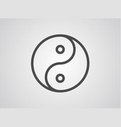 Ying yang icon sign symbol vector