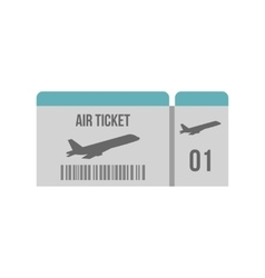Air ticket icon flat style vector image vector image