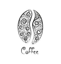 black coffee bean vector image vector image