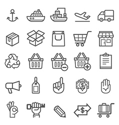 Business transportation element icons vector image