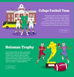 colleage football team heisman memorial trophy vector image vector image
