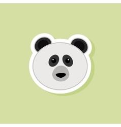 Cute Panda Face vector image
