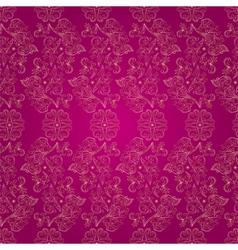Floral vintage seamless pattern on pink vector image