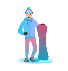 the snowboard character vector image vector image