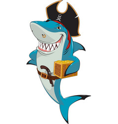 white shark pirate vector image