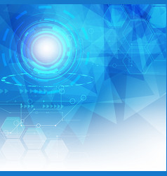 abstract digital hitech technology background vector image vector image