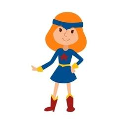 beautiful cartoon little girl vector image