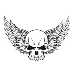 human skull tattoo vector image vector image