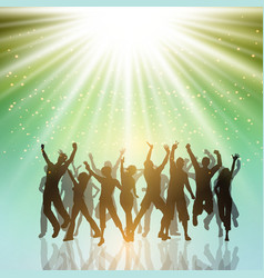 party people on a starburst background 2406 vector image