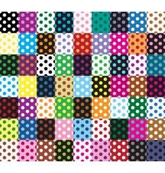 Polka dots 63 seamless patterns vector image vector image