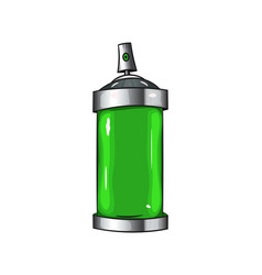 Sprays with green paint vector