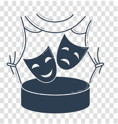 theater concept in the form of theatrical masks vector image