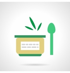 Vegetable puree flat simple icon vector image vector image