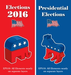 American Presidential Election Party Banners vector image vector image