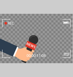 Background with camera frame and record or rec vector
