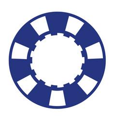 blue casino poker chip vector image vector image