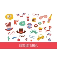 costume props for independence day of America vector image vector image